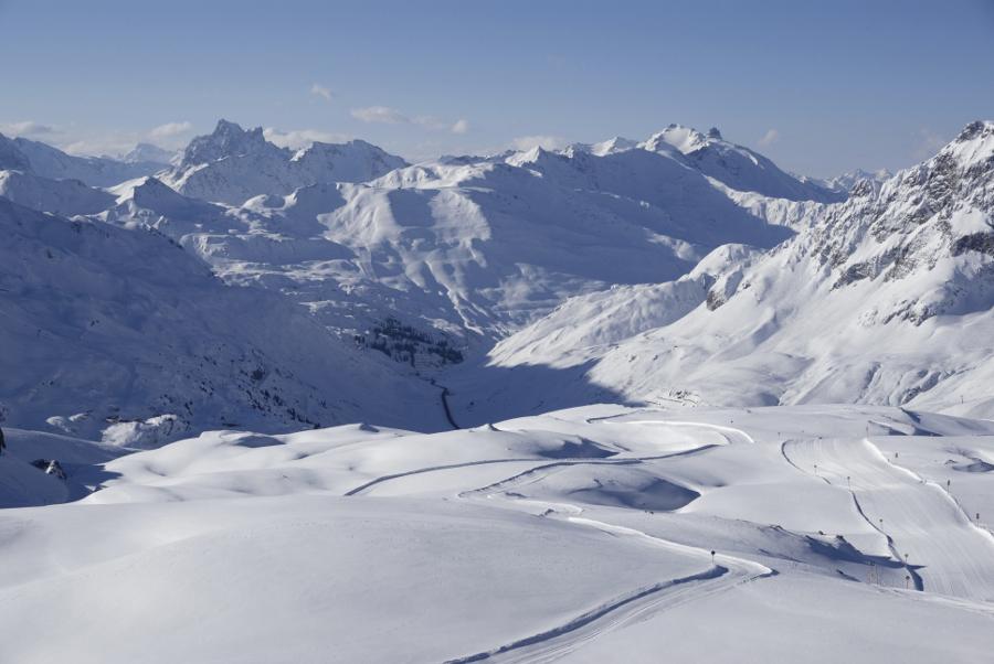 Das Skigebiet Arlberg