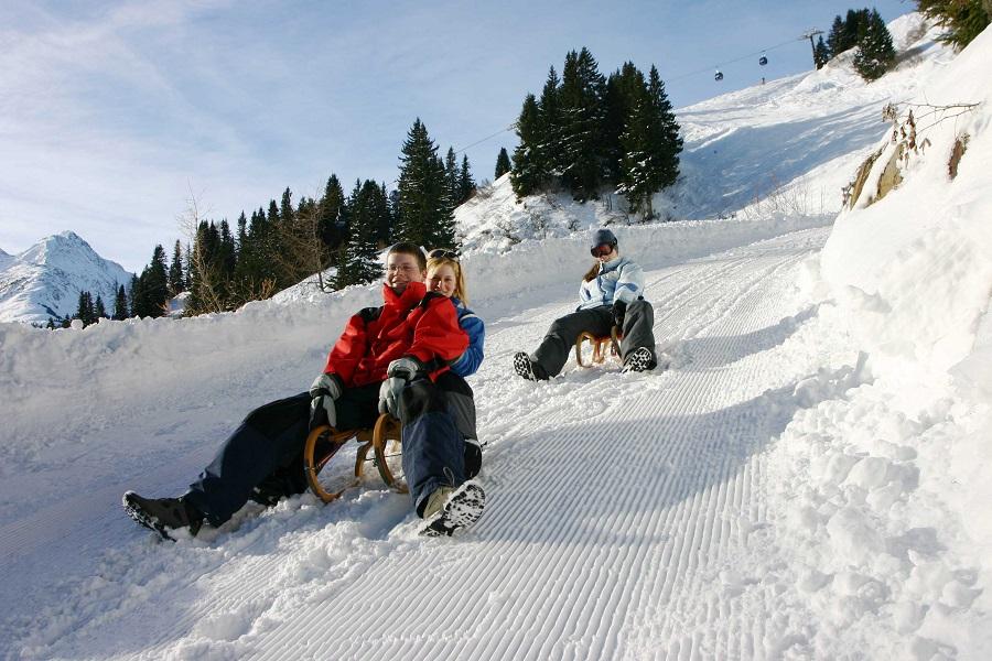 Rodeln am Arlberg