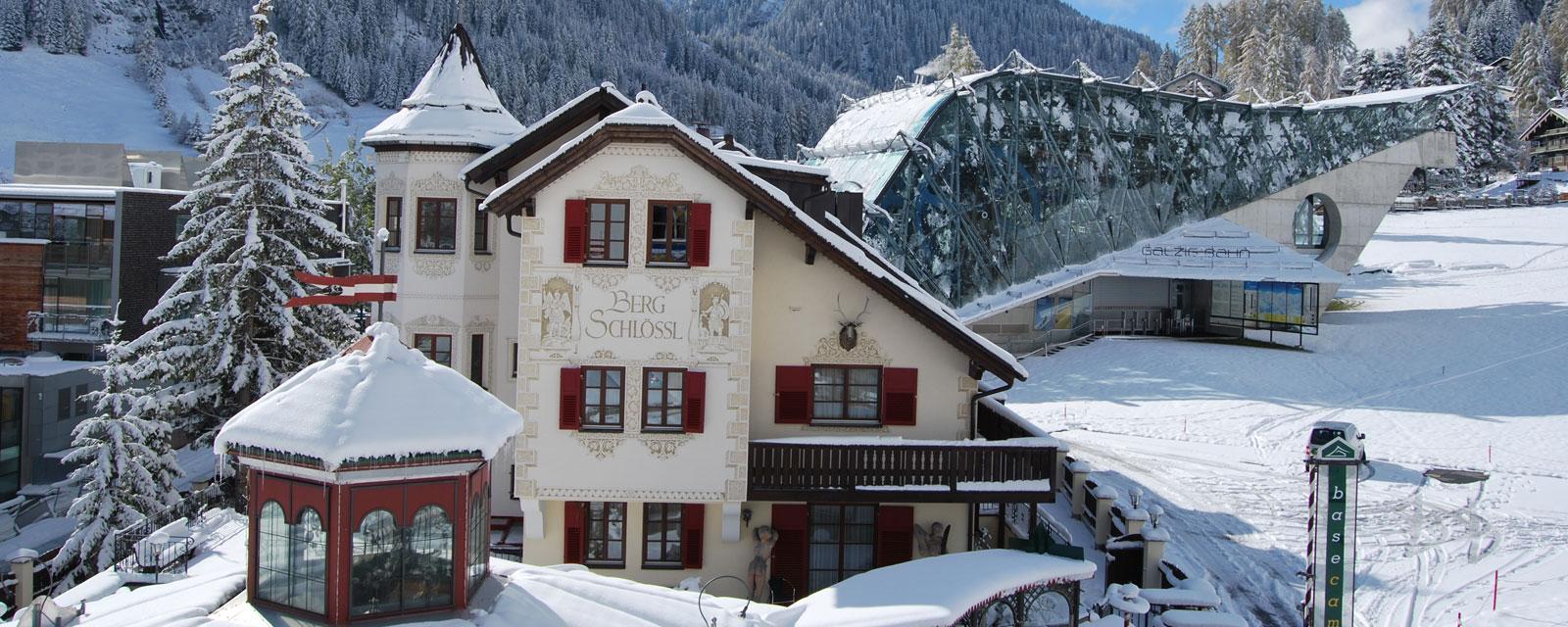 Das Bergschlössl in St. Anton am Arlberg im Winter